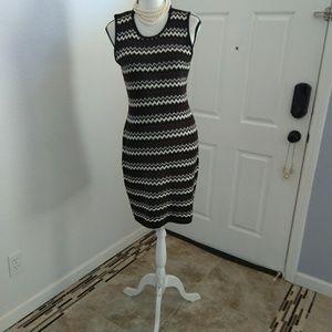 Calvin Klein brown knit dress size medium